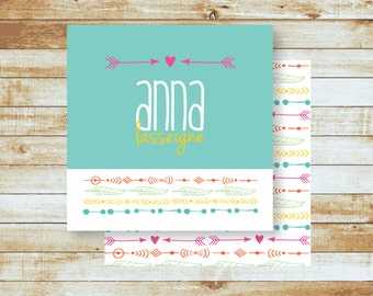Personalized Calling Cards / Love & Arrows / Gift Tags