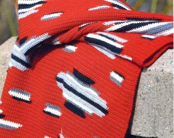 The Navajo Blanket Pattern, Native American Indian Afghan
