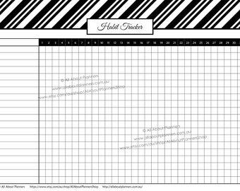Habit tracker printable routine tasks log cleaning chores business blogging content calendar workflow home organization bullet journal bujo