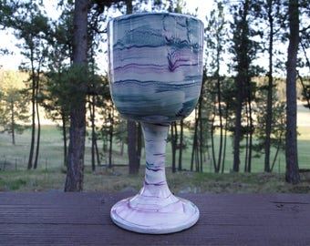 Handmade Goblet/ Wine Glass/ Gifts for Her/ Goblet Made in Italy