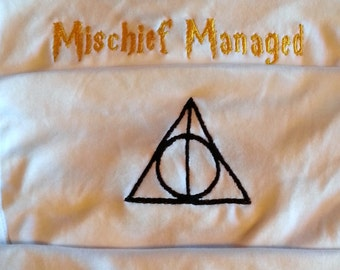 Harry Potter onesies 4 -pack Deathly Hallows, Mischief Managed, Muggle Born, Scar and Glasses