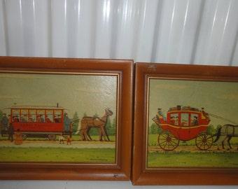 Set Of Two E. Melvin Bulstad Prints on Board