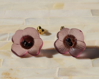 Purple Poppy Earrings