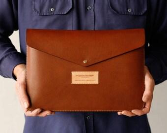 Macbook Case Leather Sleeve, Laptop, Macbook Air, Macbook Pro, Retina, Leather Laptop Sleeve, Hand Stitched, Personalised, Luxury
