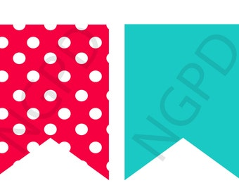 Red and Teal Banner