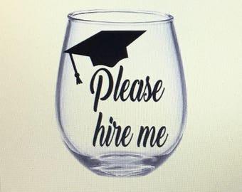 Graduation gift. Graduation wine glass. Graduation gift ideas. Gift for graduation. Graduate wine glass. Graduate gift. Grad wine glass.