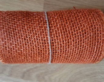 Orange Burlap Ribbon Fabric Roll, Orange, Burlap, Orange Burlap