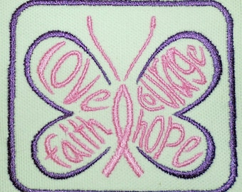 Iron-On Patch - COURAGE BUTTERFLY