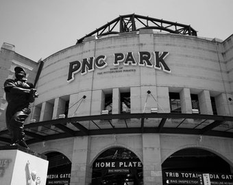 PNC Park, 11x14 black and white, fine art print, Home of the Pittsburgh Pirates