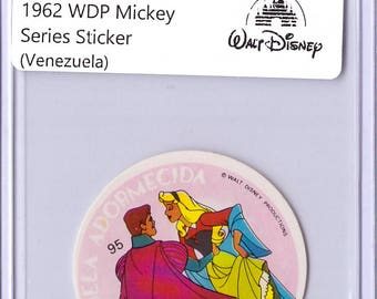 Rare 1962 Walt Disney Prod MICKEY Album Sticker - Sleeping Beauty 17111919