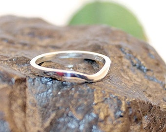 Sterling Silver Band, Stacking Bands, Wedding Band, Curved Band