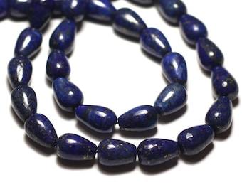 4pc - stone beads - Lapis Lazuli drops 12x8mm - 4558550033413