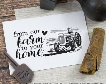 "2x1"" Carton Stamp - From Our Farm to Your Home"