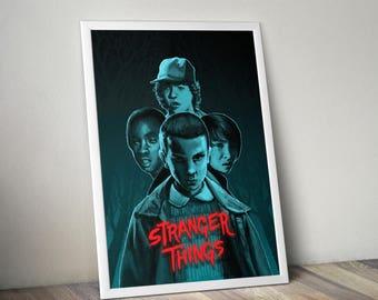 Stranger Things A3 Art Print