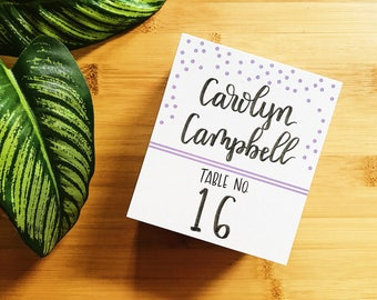 Handlettered Wedding Placecards