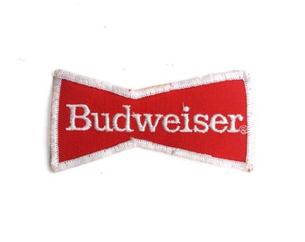 """Vintage Classic Budweiser Beer Bud King Of Beers Drinking Bar Logo Embroidered Patch 2"""" x 3.75"""""""