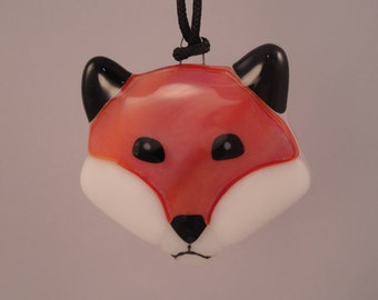 Fused Glass Fox Ornament - 04033