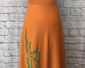 1970s Maxi Bamboo Embroidery