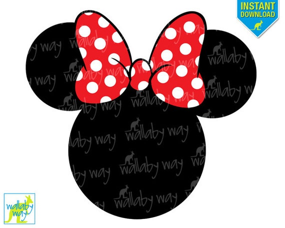 Impeccable image with printable minnie mouse head
