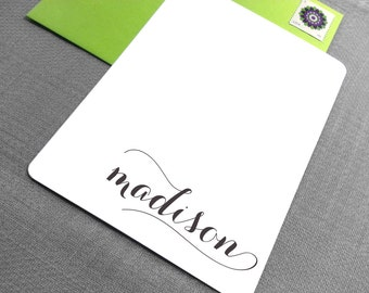 Personalized Stationery Set - Note Cards with Fluorescent Envelopes - Personalized Stationary