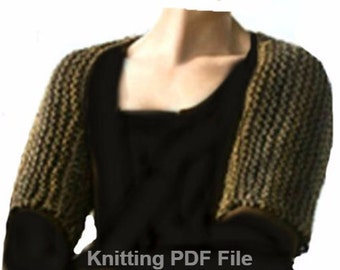 Claire's Shoulderette Shrug PDF Kniting Pattern Sassenach Shrug . Is not a finished product.