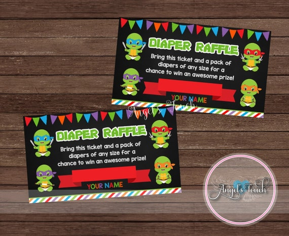 Ninja Turtles Baby Diaper Raffle Ticket, Diaper Raffle Ticket, Ninja  Turtles Baby Shower, Instant Download, Digital File From  AngelsTouchPartyShop On Etsy ...