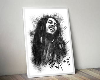 Bob Marley Gliceé Art/Canvas Print [Limited Edition]