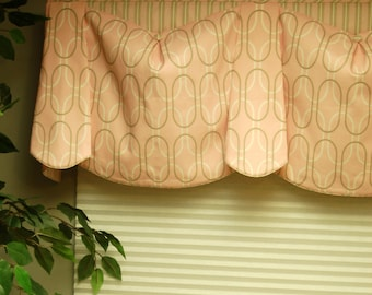 "Custom Valance BEV'S BLOUSE Hidden Rod Pocket® Valance fits 47""- 66"" window, Window topper, Your fabrics, my labor and lining"