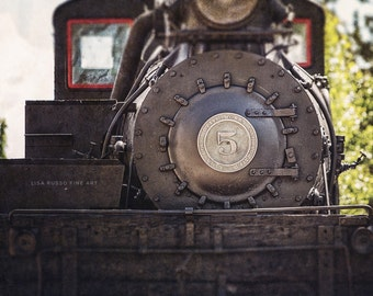 Train Decor, Train Print, Railroad Print or Canvas Art, Train Print, Shay No. 5 Locomotive Print, Boy's Room Decor.