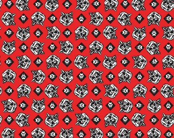 SALE Cub Scouts Wolf Red - Riley Blake Designs - Boy Scouts Paws - Quilting Cotton Fabric - choose your cut