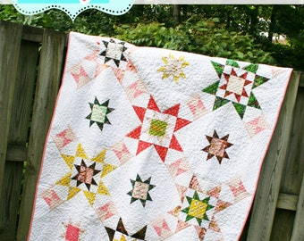 Emerson Star: star quilt in baby, throw, queen by Quilt Story Quiltstory