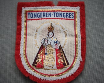 Large Infant of Prague Religious Patch from Tongeren / Catholic Relic Scapular