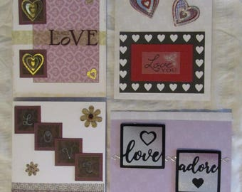 Love and Adore Homemade Valentines Greeting Cards, each card sold seperately