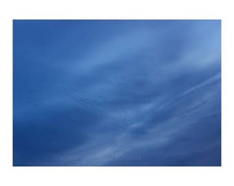 Sky Photography, Modern photography, Blue wall art, Minimalist wall art, blue sky photo, Sky wall art, wall decor bedroom, nature,