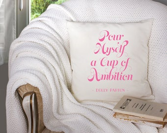 dolly parton pillow - dolly parton portrait - dolly parton artwork -  - decorative throw pillow . throw pillow with words -