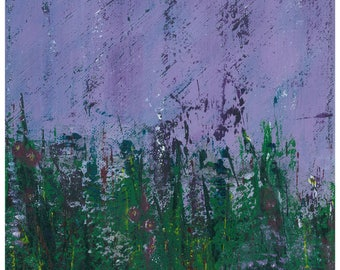 Purple Rain  // Prince // Flower Garden // Prints // Acrylic Painting // Lavender // Flowers // 8 x 10 // Country // Art // Gifts // Floral