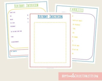 Birthday Binder {Bundle} Instant Download // 8.5x11