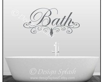 BATH Bathroom Wall Decal Q-108