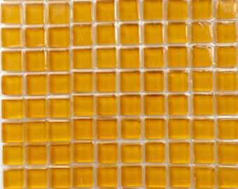 100 (10mm) MINI Corn Syrup Orange Yellow Crystal Glass Mosaic Tiles 3/8 in.//Mosaics/ Mosaic Supplies//Crafts