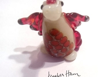 Caendra the DRAGON! Custom Glass Sculpture Player Marker Figurine Miniature by Jenefer Ham Pawn Board Game