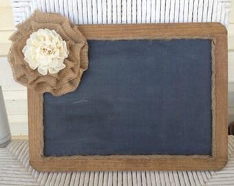 Rustic Wedding Wooden Framed Chalk Board One-Sided
