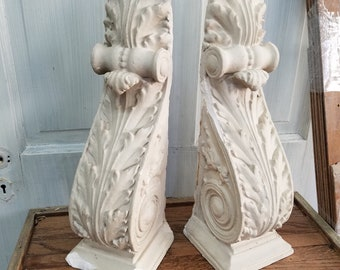 1800s Antique Corbels, Architecture Salvage, Ornate Corbels, Fancy Corbels Plaster Corbels Decorative Brackets Vintage Corbel