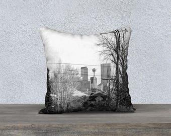YYC Calgary Throw Pillow, Modern Souvenir Home Decor Couch Sofa Pillow by KarenMakes