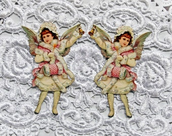 Reneabouquets Victorian Winter Angel Die Premium Paper Die Cut Set