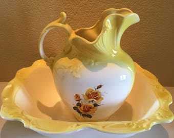 Decorative Pitcher and Basin