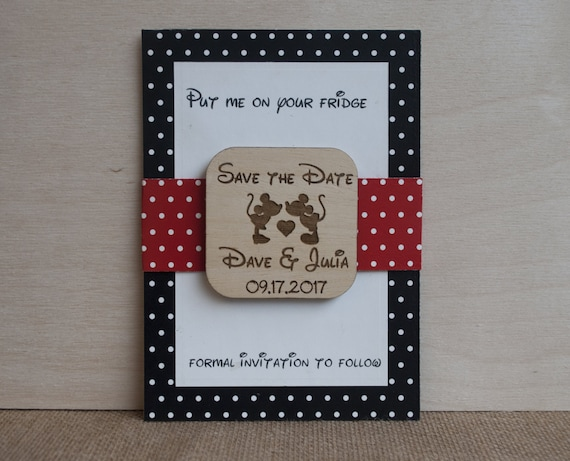 Ideal Mickey and Minnie Save the Date Disney Save the Date PI89