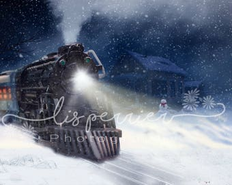 Polar Express Digital Background