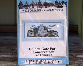 Debbie Patrick Cross Stitch Kit Victorians Across America Golden Gate Park Conservatory San Francisco