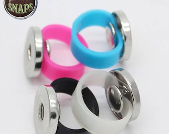 Stretch silicone ring for 18 / 20mm snap button, Chunk, charm, ginger snap, Noosa Style, SNAPS. Lot 1,2,4,8.