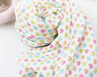 """Hearts Cotton Gauze - 59"""" Wide - By the Yard 77377"""